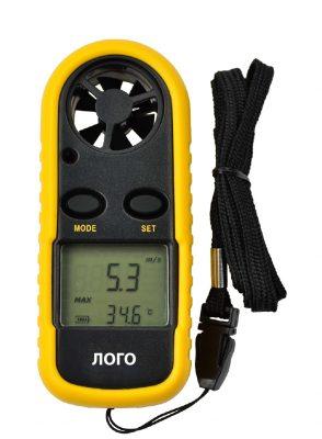Измеритель скорости ветра и температуры воздуха